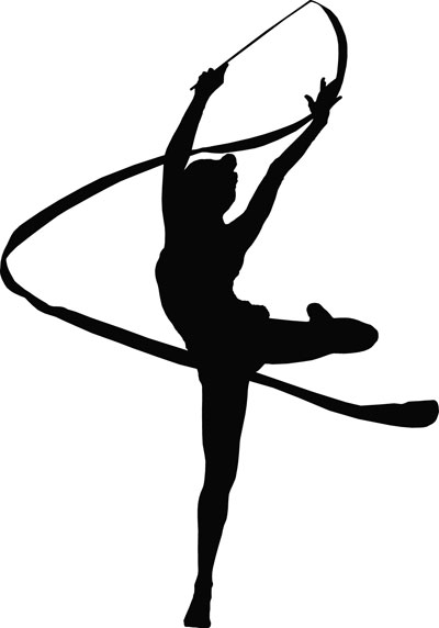 400x572 Gymnastics Clipart Ribbon