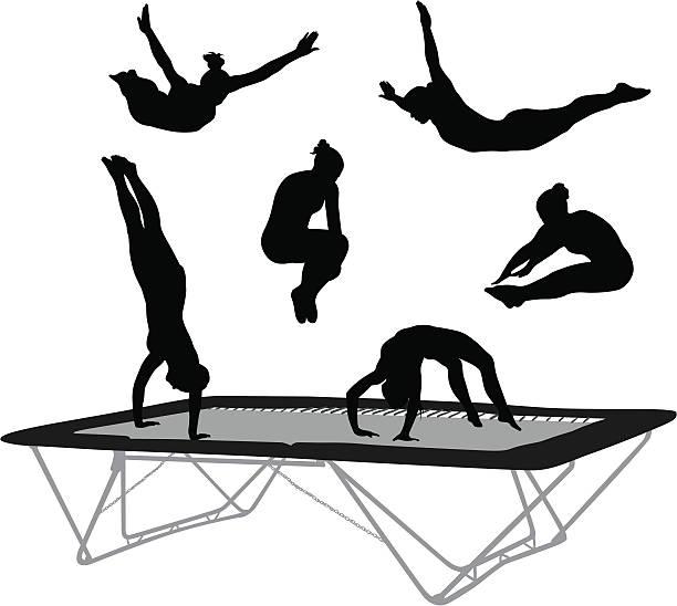 612x548 Trampoline Gymnastics Clipart