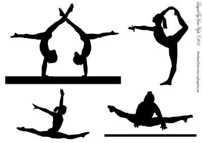 400x283 Gymnastics Silhouette Clip Art