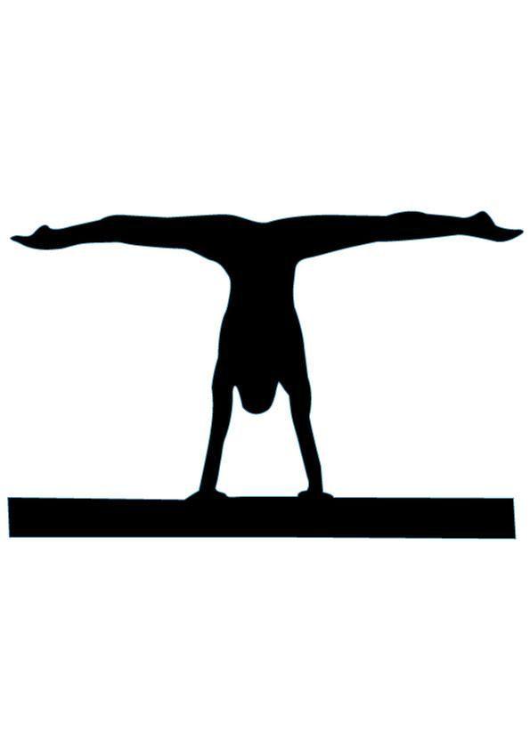 595x842 Gymnastics Clipart