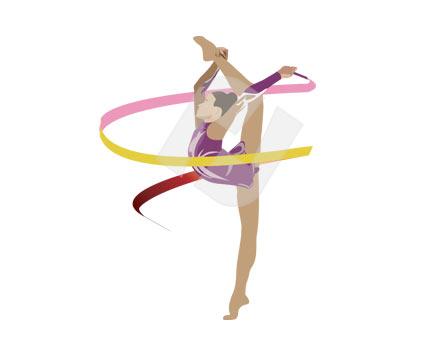 425x356 Gymnastics Clipart Ribbon