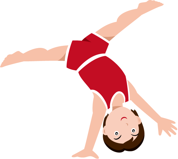 625x558 Gymnastics Clipart Simple