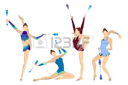450x298 2,037 Kids Gymnastics Stock Vector Illustration And Royalty Free