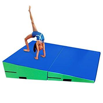 355x355 Gymmatsdirect Folding Gymnastics Incline Mat Large