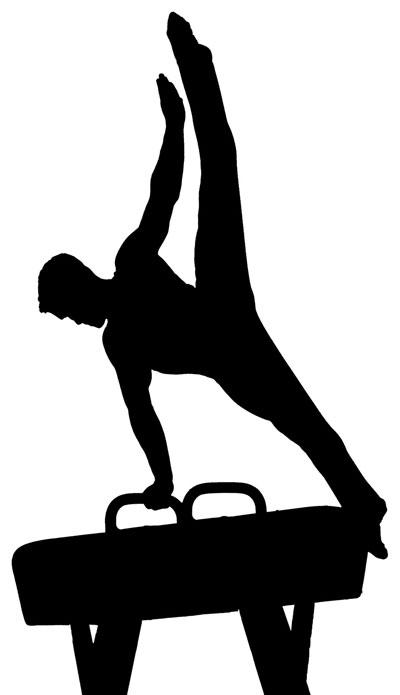 400x695 Kids Doing Gymnastics Clipart