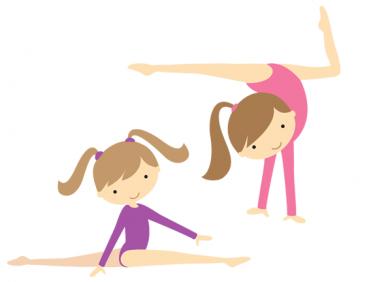 375x282 Kids Gymnastics Clipart