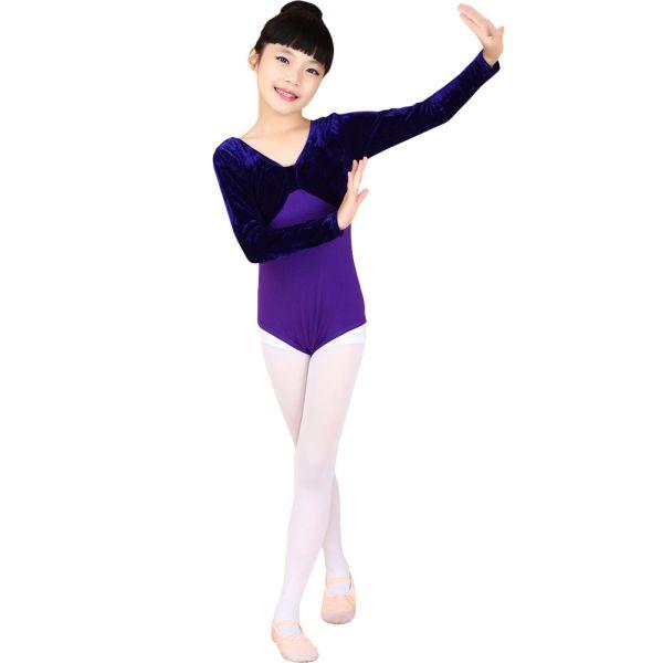 600x600 Baby Kids Girl Long Sleeve Ballet Gymnastics Bodysuit Dance
