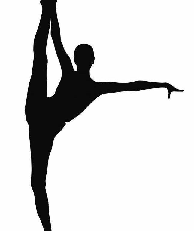 646x768 Awe Inspiring Gymnastics Clip Art Silhouette Free Clipart Images