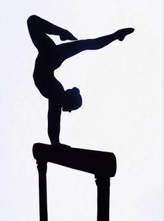 Gymnastics Silhouette Splits