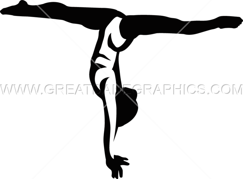 825x607 Gymnastic Splits Production Ready Artwork For T Shirt Printing