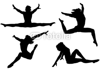 399x284 Gymnastics Split Jump Clipart