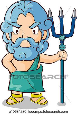 316x470 Clipart Of Poseidon, Myth, God, Greek Mythology, Mythical