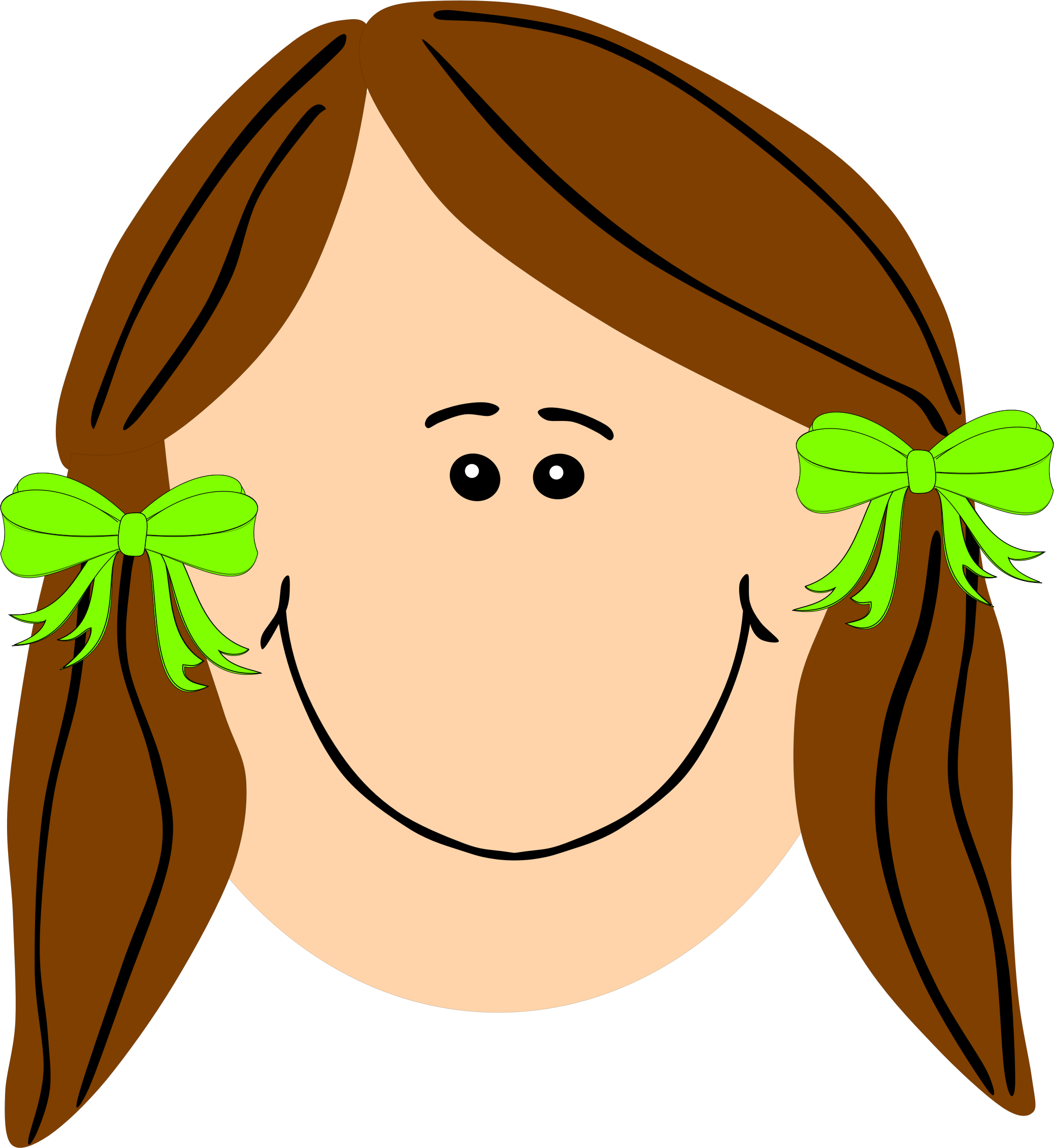 2076x2261 Hair Clipart Long Hair