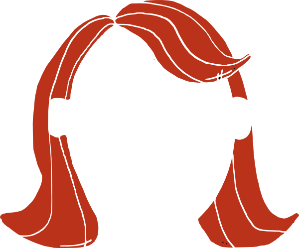 600x498 Long Hair Girl Clip Art