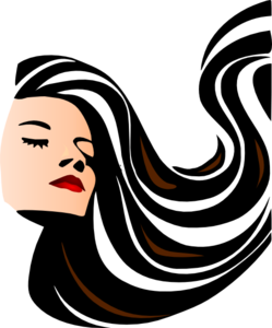 249x300 Woman With Shiny Long Hair Clip Art