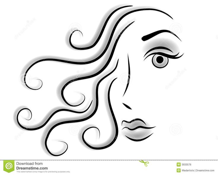 Hair Clipart Black And White