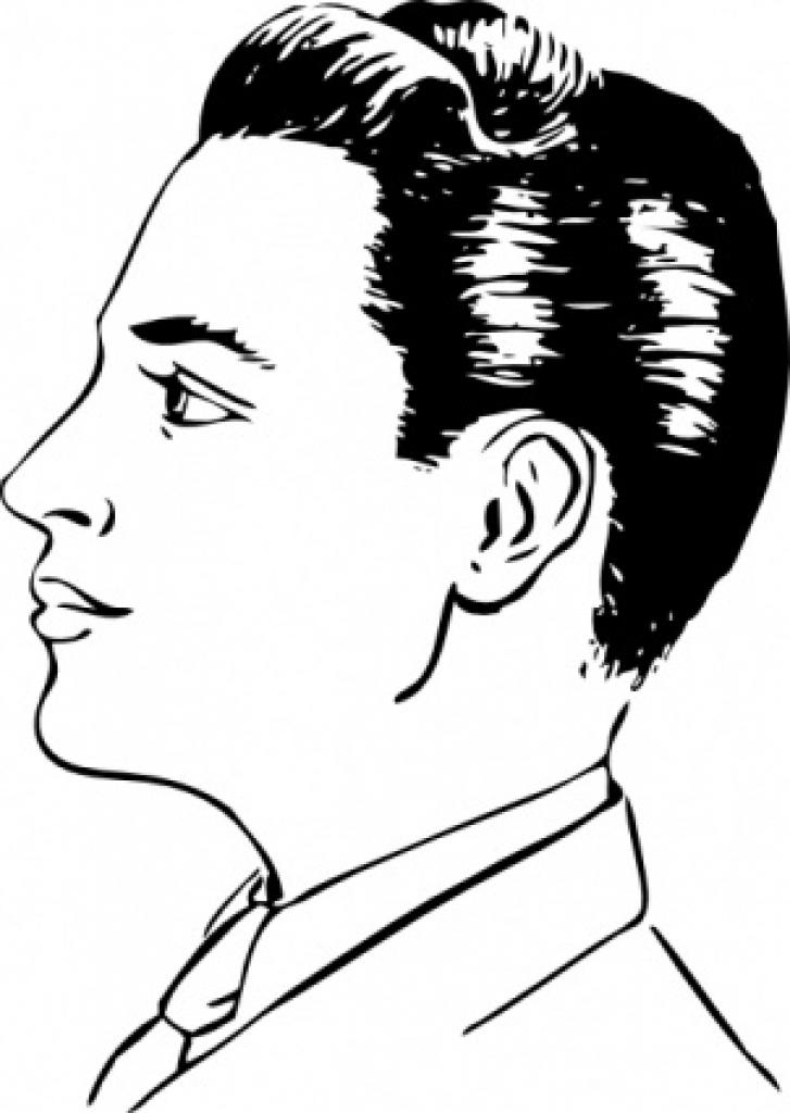 727x1024 Man Hair Clipart Men
