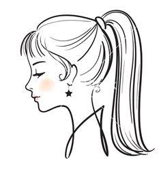 236x248 Woman Hair Clipart Black And White