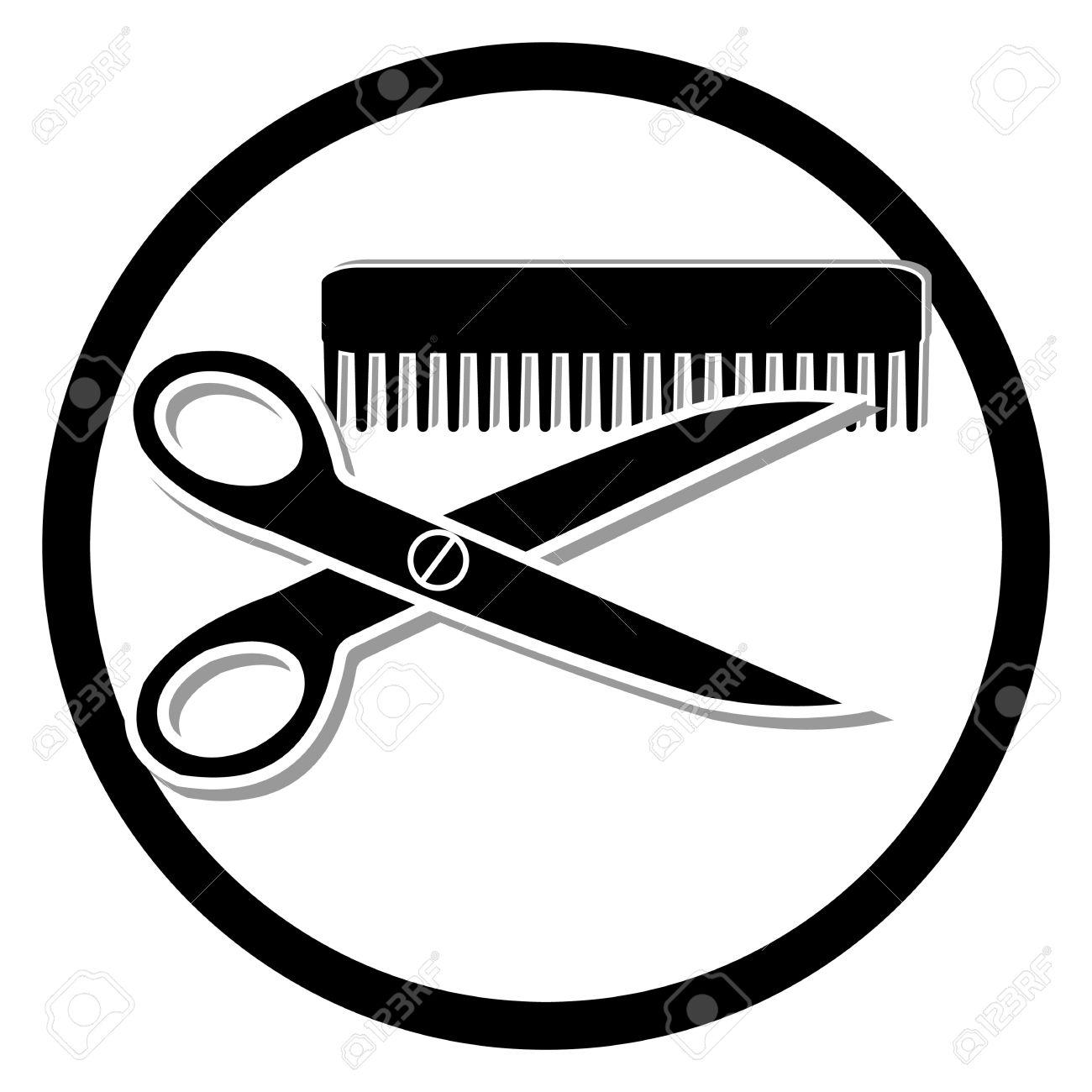 1300x1300 Haircut Or Hair Salon Symbol Royalty Free Cliparts, Vectors,