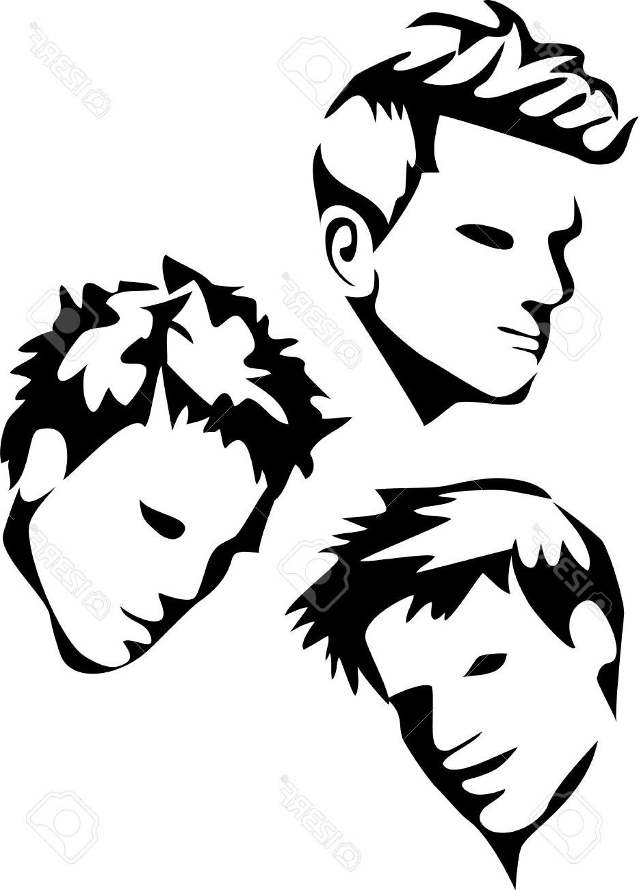 934x1300 Best 15 Men Hair Styles Stock Vector Haircut Cdr