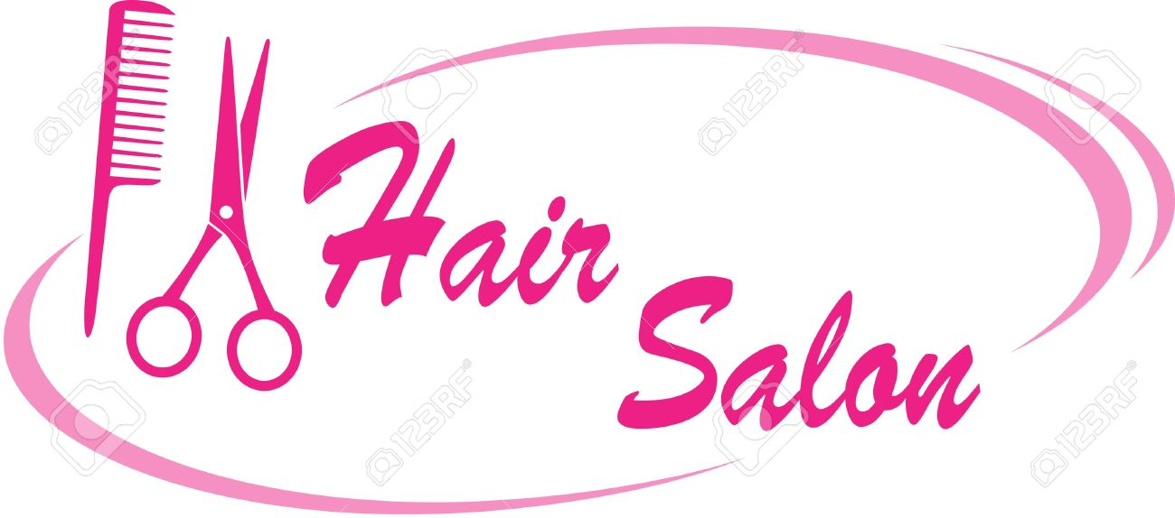 1300x574 Pink Hair Clipart Haircut Scissors
