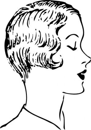 298x425 Woman Fashion Haircut Clip Art Vector Clip Art Free Vector Free