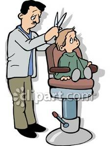 225x300 Boy Getting His First Hair Cut At The Barber