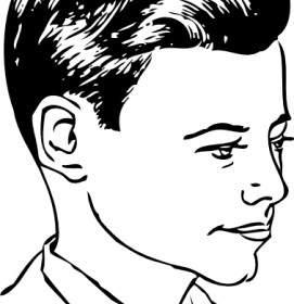 271x280 Brush Top Haircut Clip Art Vector Clip Art Free Vector Free Download