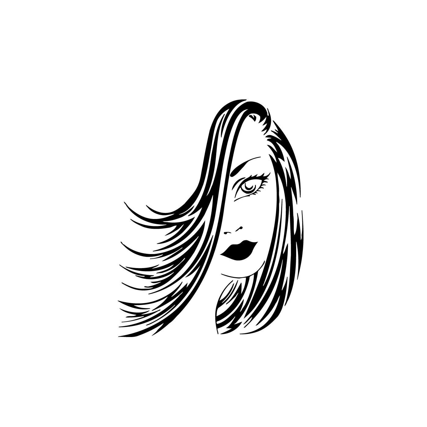 1400x1400 Retro Hair Salon Clipart