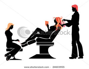300x235 Woman Getting Her Hair Done And Toenails Painted