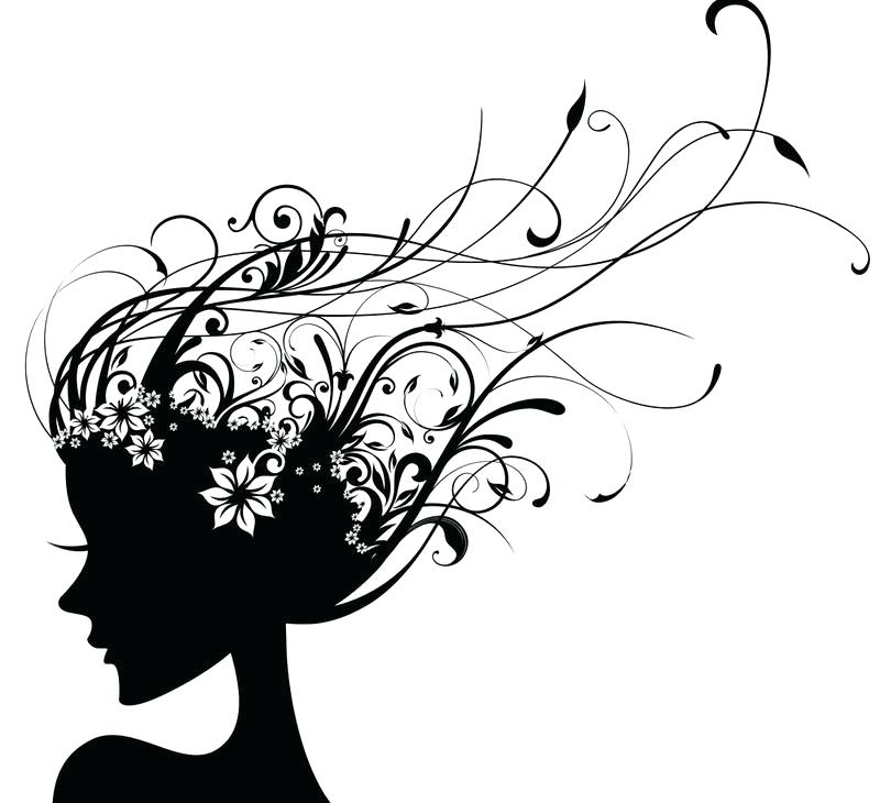 Hair Salon Clipart Black And White   Free download best ...