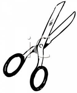 250x300 Black And White Pair Of Scissors