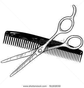 287x300 Hair Scissors And Comb Clip Art Clipart Panda