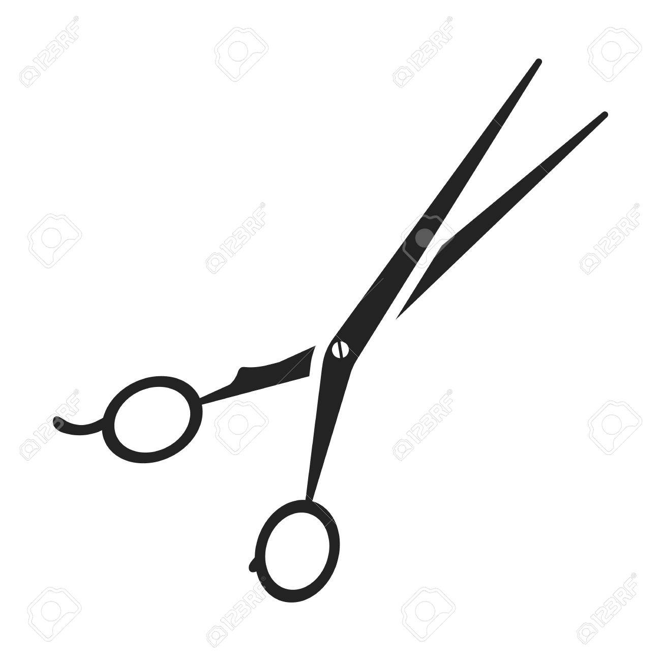 1300x1300 Hair Cutting Shears Icon In Black Style Isolated On White