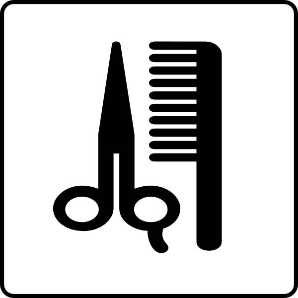 600x600 Hotel Icon Hair Salon Clip Art