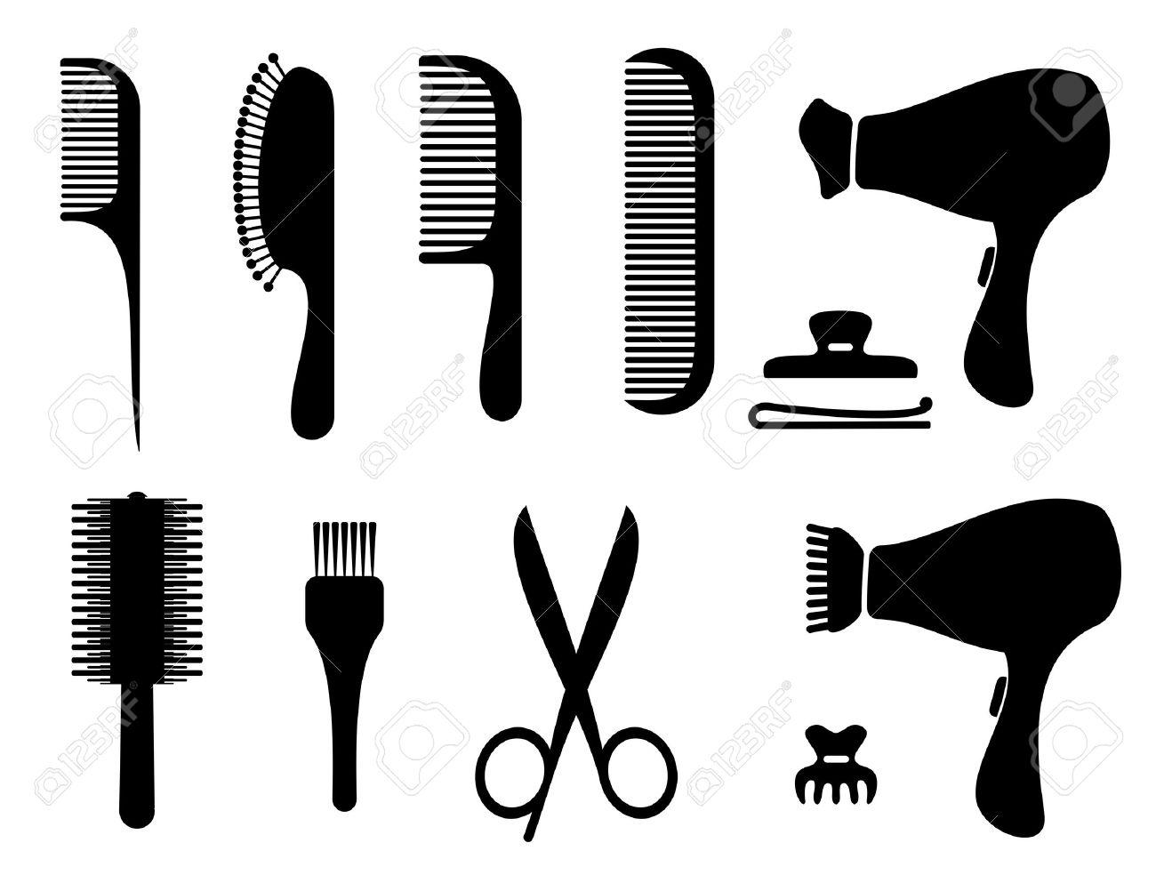 1300x993 Hair Tools Clipart