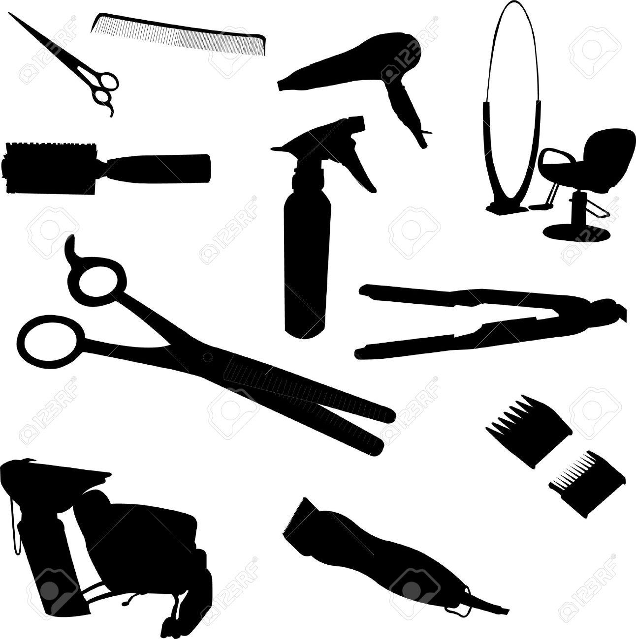 1292x1300 Black Hair Stylist Tools Clipart