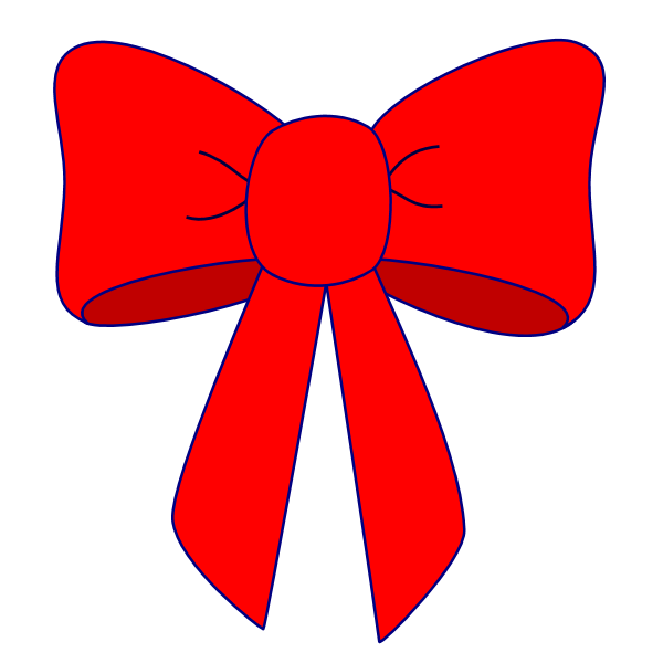 600x600 Hair Bow Christmas Bow Clip Art Merry Christmas Amp Happy New Year