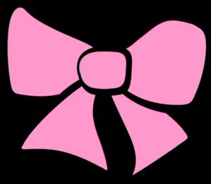 299x261 Hair Bow Pink Clip Art