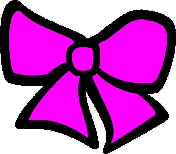 600x524 Pink Hair Bow Clip Art