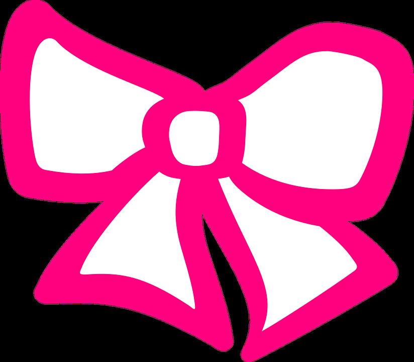 824x720 Pink Hair Clipart Ribbon