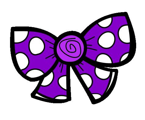 476x394 Purple Clipart Hair Bow