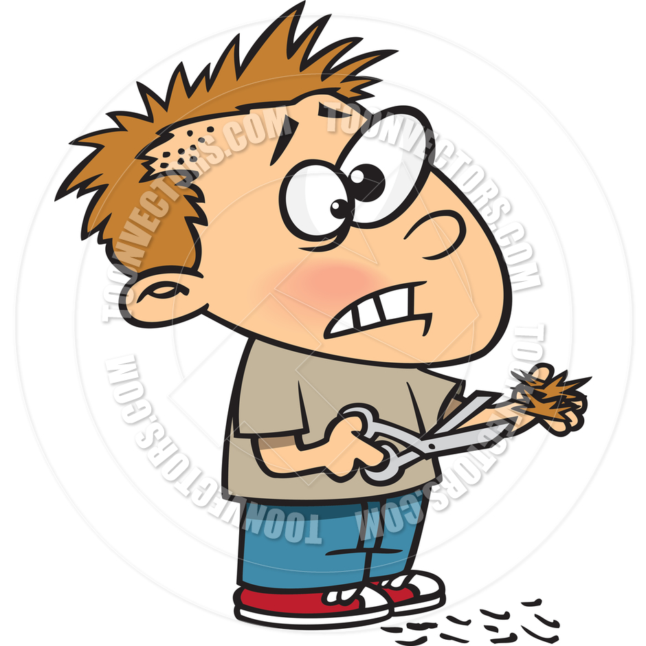 940x940 Cartoon Boy Bad Haircut By Ron Leishman Toon Vectors Eps
