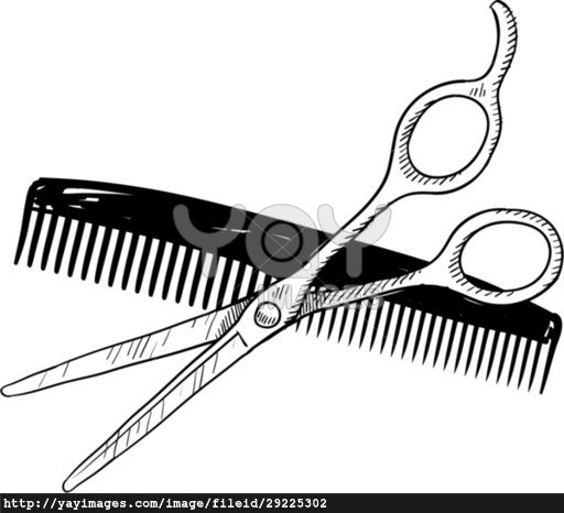 Hairdressing Scissors Clipart | Free download best ...