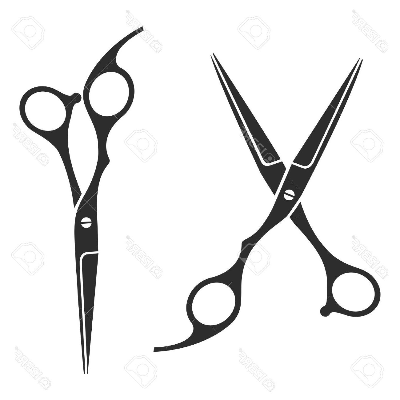 1300x1300 Best Free Vintage Barber Shop Scissors Logo Label Badge Stock