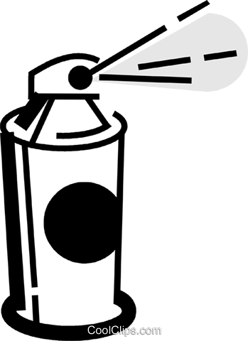 349x480 Hair Spray Royalty Free Vector Clip Art Illustration Vc072418