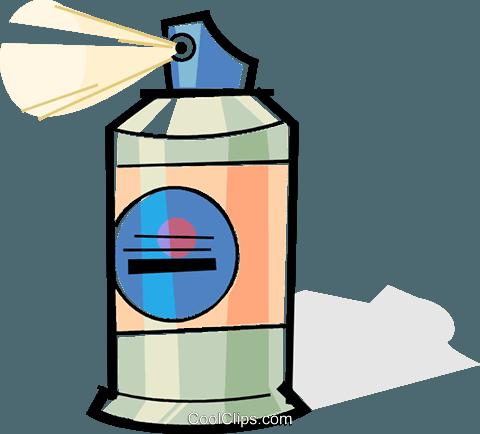 480x434 Bottle Of Hair Spray Royalty Free Vector Clip Art Illustration