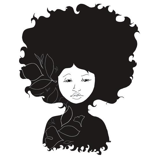 550x550 Clip Art Natural Hair Clipart