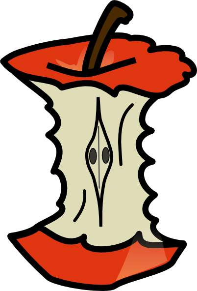 402x592 Apple Core Clip Art