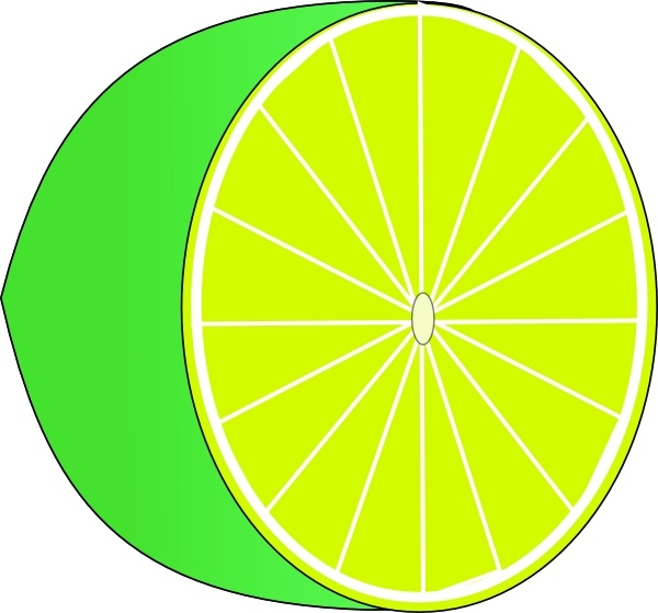 600x559 Lime Half Clip Art Free Vector In Open Office Drawing Svg ( Svg